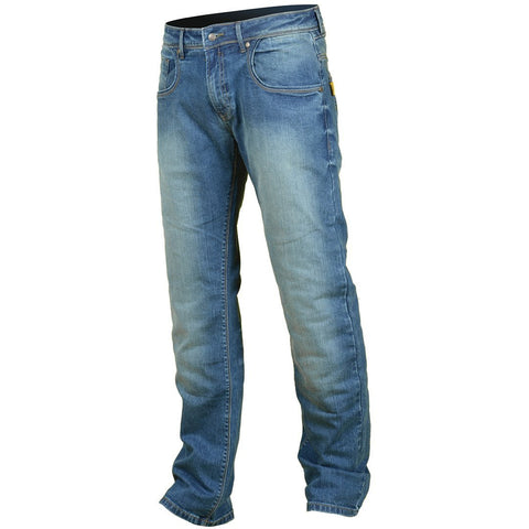 Booster Tec Motorcycle Jeans Pants - Light Wash - Booster