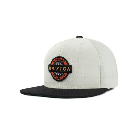 Brixton Speedway Snap Back Cap Off White/Black - Brixton