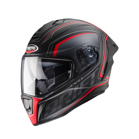 CABERG DRIFT EVO INTEGRA - MATT BLACK/ANTHRACITE/RED FLUO -Full face motorcycle helmet