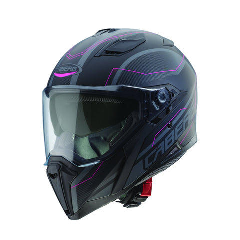 CABERG JACKAL SUPRA - MATT BLACK/ANTHRACITE/PINK - Motorcycle Full Face Helmets