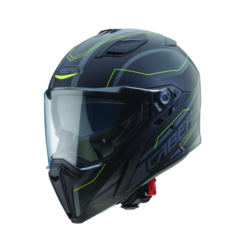 CABERG JACKAL SUPRA - MATT BLACK/ANTHRACITE/YELLOW FLUO - Motorcycle Full Face Helmets