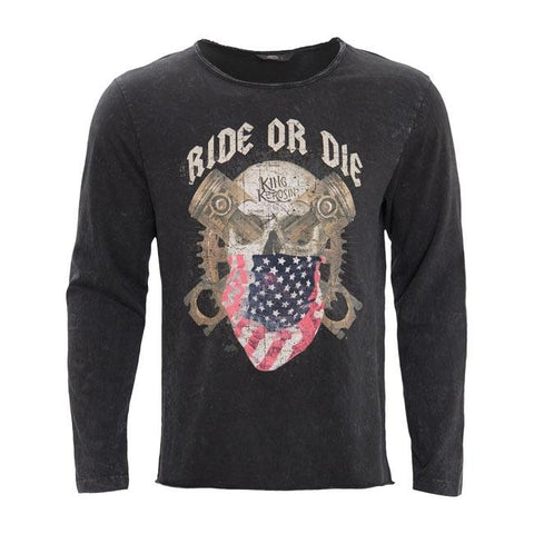 KING KEROSIN RIDE OR DIE LONGSLEEVE SHIRT BLACK - King Kerosin