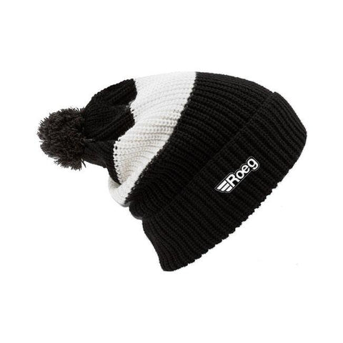 ROEG Averell Pom Knit Beanie White/Black - Roeg