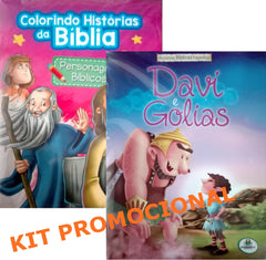 "Kit - ""Personagens Bíblicos"" + ""Davi e Golias"""