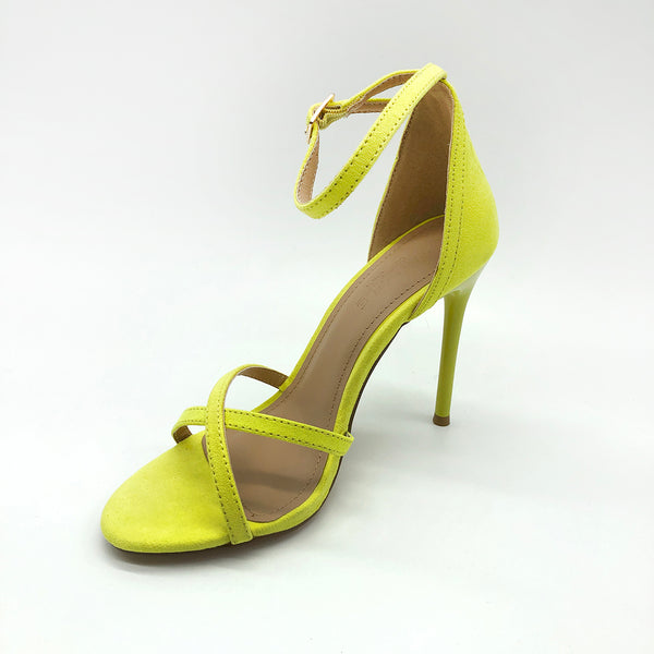 Yellow HIgh Heels with Criss Cross Straps