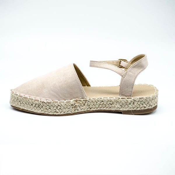 Nude  Espadrille Sandles with Ankle Strap