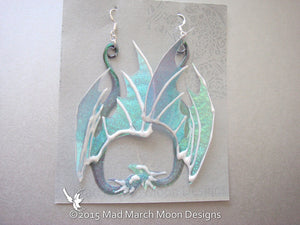 Dragon Earrings, 9 colours available