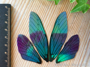 Blue Blush Fairy wing set for crafts, Medium size