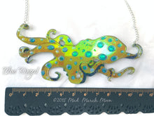 Octopus Necklace, Blue Ringed