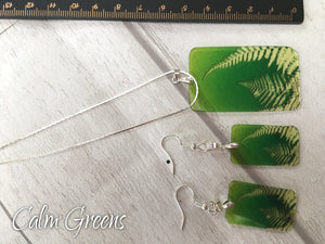 Fern necklace and Earring set