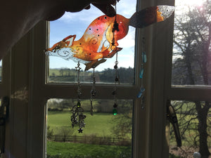 Running Fox Suncatcher, with or without unique hanging embellishments