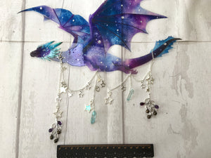 Pre order Galaxy Dragon Mobile/Suncatcher with unique hanging embellishments