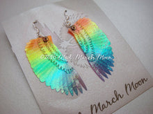 Mini Rainbow Bird wing earrings