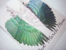 Crow wing earrings