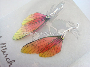 Fairy wing earrings Mini 'Fall Flame