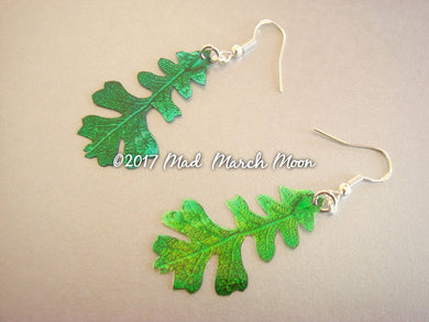 Mini Oak Leaf Earring Summer Greens