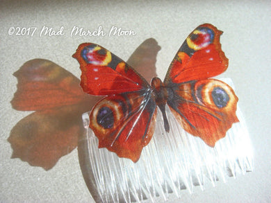 Peacock Butterfly Comb