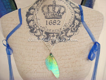 Fairy Wing Lariat Necklace, Iridescent Rainbow Fairy Wing