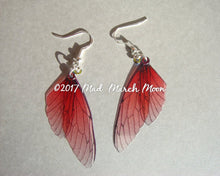 Fairy wing earrings Mini 'Cherry Kiss'