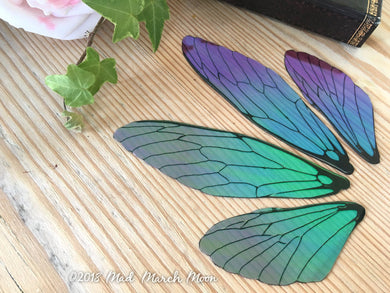 Blue Blush Fairy wing set for crafts, Large size