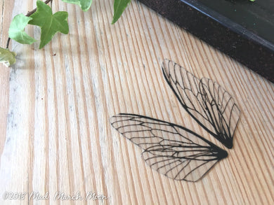 Mini fairy wings Plain for craft 'Glass'