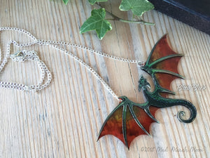 Dragon Necklace, Blood Black