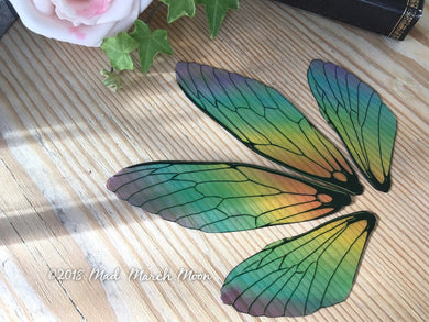 Rainbow Fairy wing set, Medium Size