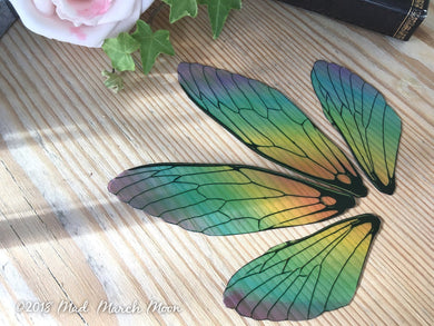 Rainbow Fairy wing set, Large Size