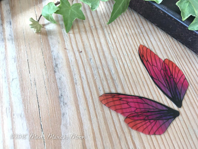 Fairy wing set for crafts 'Very Berry' Mini