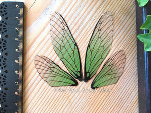 Fairy wings for crafts Emerald Zest Medium