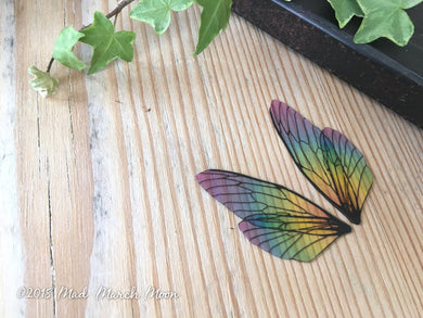 Mini fairy wings for crafts 'Rainbow Glass'