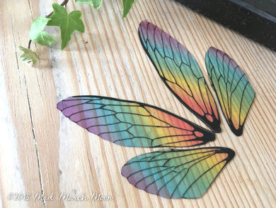 Fairy wings for crafts 'Rainbow Glass' Medium