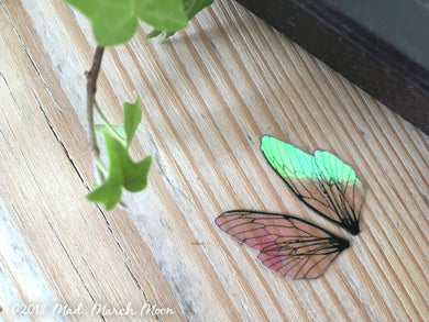 Tiny 'Micro' Fairy wing set for craft Plain Iridescent