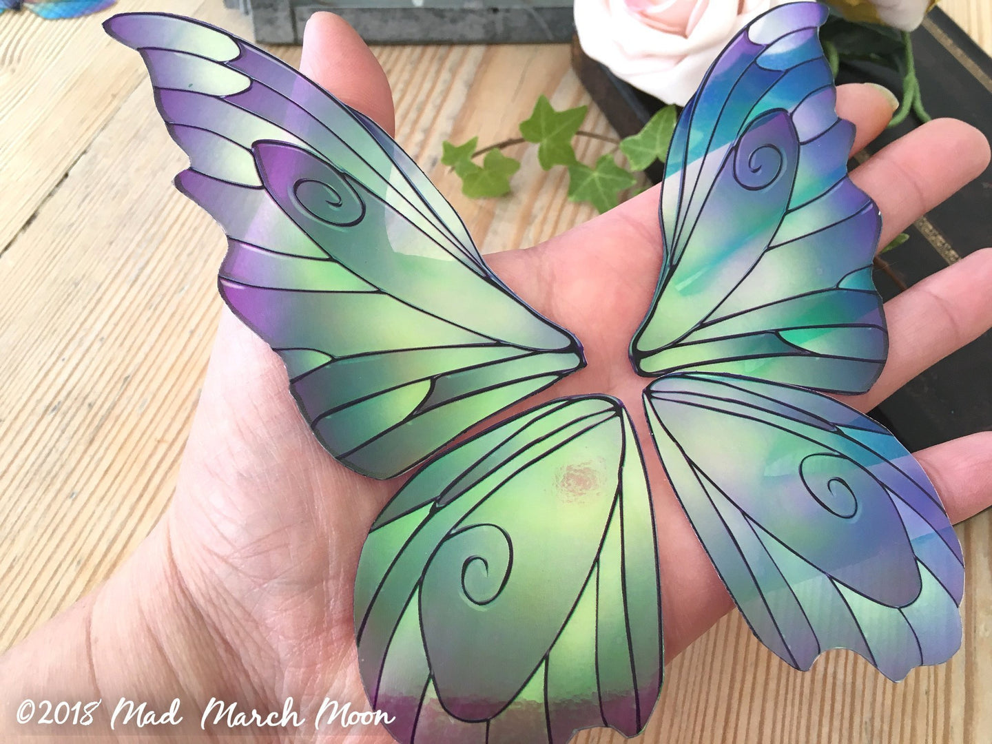Large 'Fantasy' Fairy wings for crafts 3 colours available