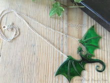 Dragon Necklace, Forest Greens