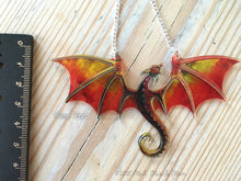 Dragon Necklace Flame Reds