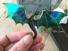 Dragon Necklace, Blue Green
