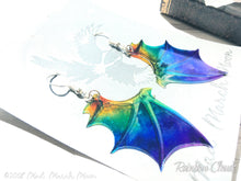 Dragon wing earrings 8 color options