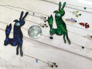 Hare Mobile with bells and unique hanging embellishments, 8 colour options