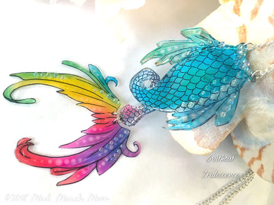 Rainbow Mermaid Tail Necklace