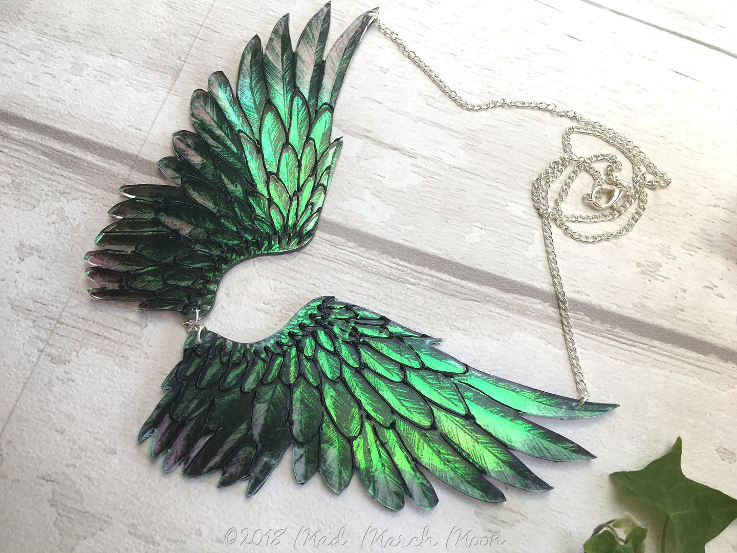 Raven Wing Necklace