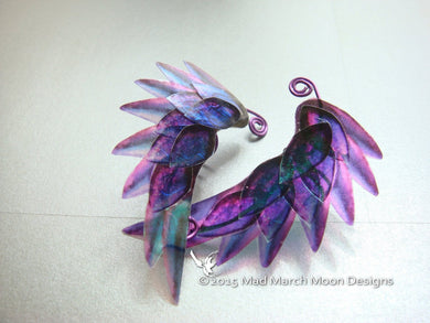 Dragon Scale Wing Ear Cuffs Purple