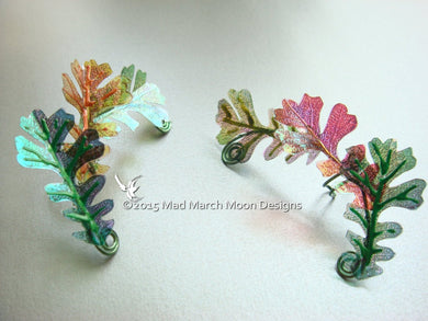 Oak Leaf Ear Cuffs