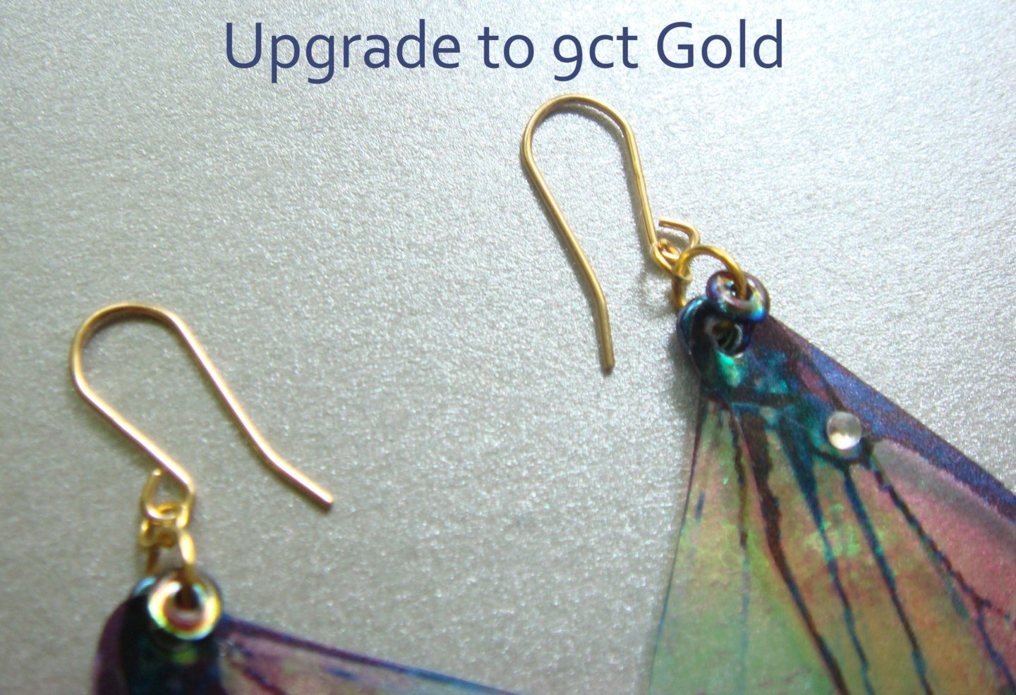 Upgrade to 9ct solid Gold earring hooks for any Mad March Moon Earrings