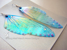 Fairy wing earrings Glitter Rainbow