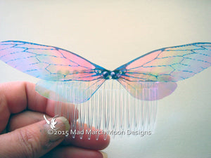 Large Rainbow Fairy Wing Hair Comb