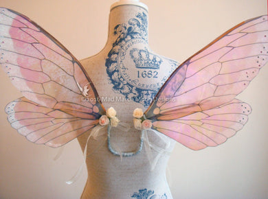 Vintage Rose Iridescent Fairy Wings small adult size