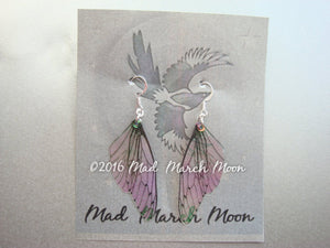 Mini Fairy wing earrings, cicada style