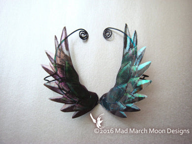 Dragon Scale Wing Ear Cuffs Black