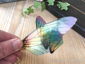 Fairy wings for craft 'Rainbow Glass' Large